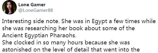 63岁老奶奶沉迷《刺客信条:起源》200+小时 因为喜爱埃及文化