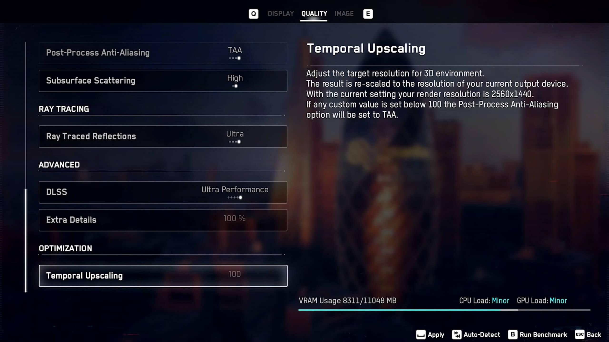 《看门狗:军团》PC画质设定截图 很多特效可调至最高