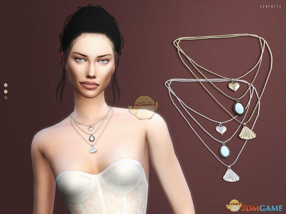 《模拟人生4》女性三件套项链MOD