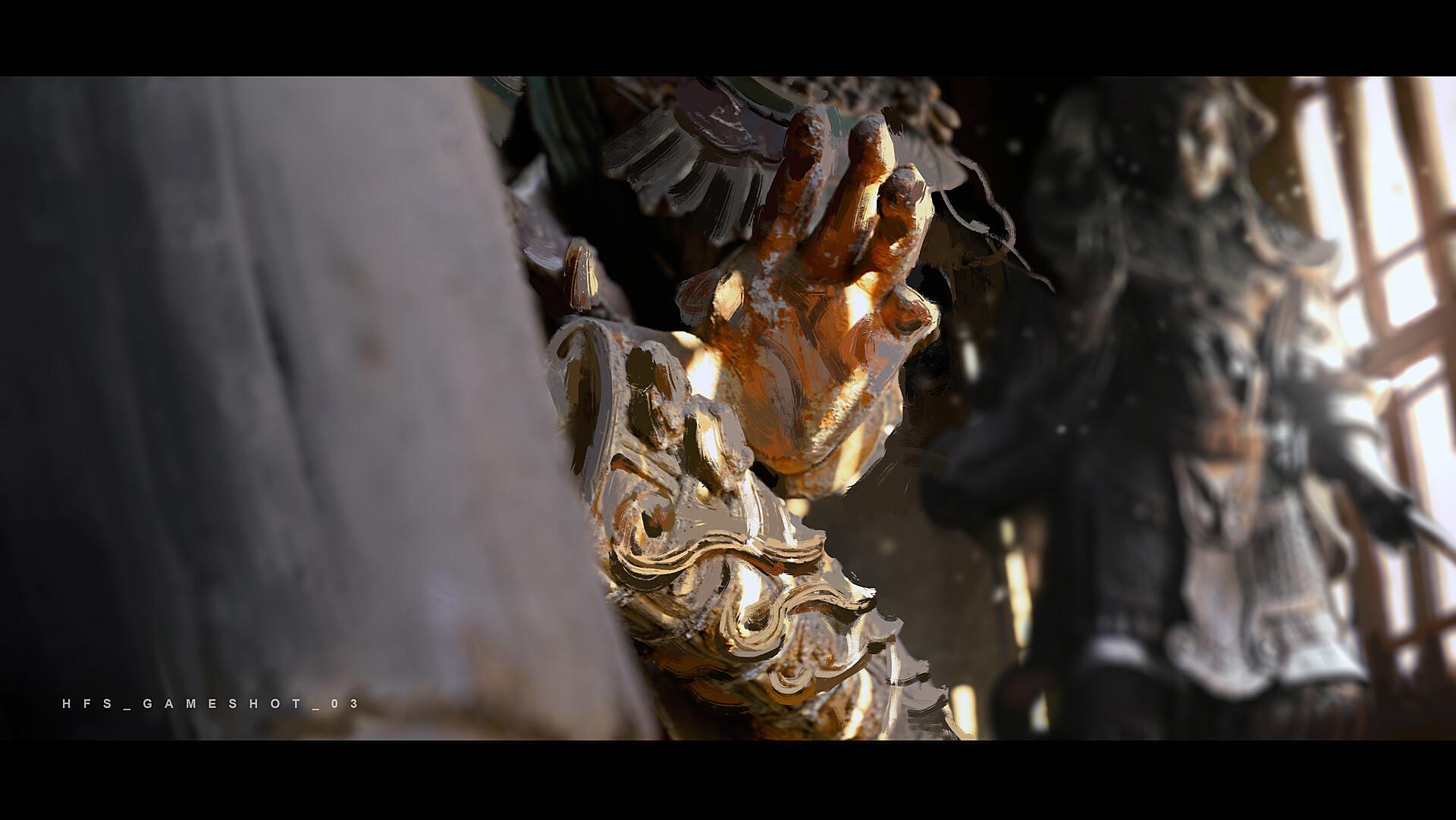 《黑神话:悟空》游戏早期概念图 猴子和白龙亮相