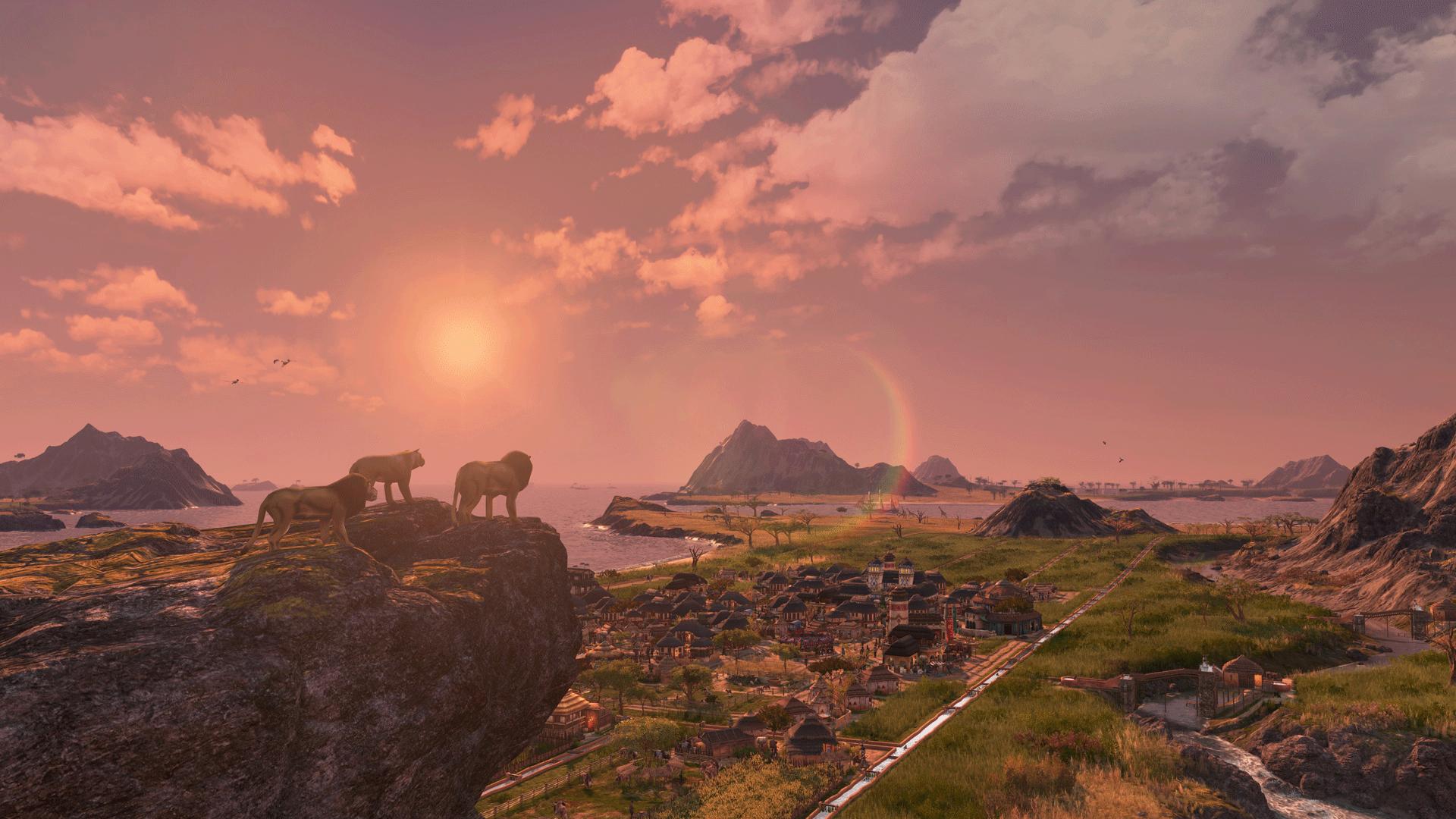 在《纪元1800》最大DLC《群狮之地》探访宏大的安贝沙