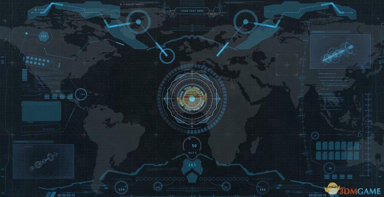 《Wallpaper Engine》高科技空间飞船HUD界面动态壁纸