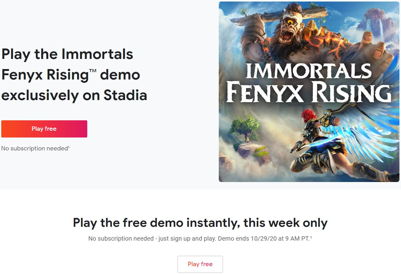 育碧《渡神纪》试玩版在Stadia推出 限时一周免费游玩