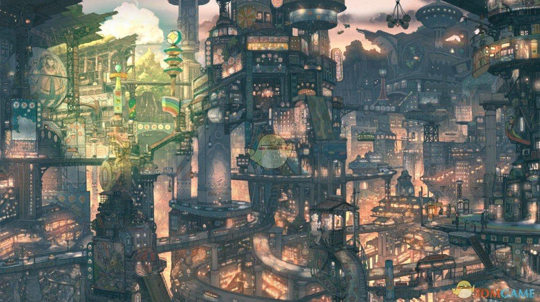 《Wallpaper Engine》超复杂立体都市日夜鼠标互动动态壁纸