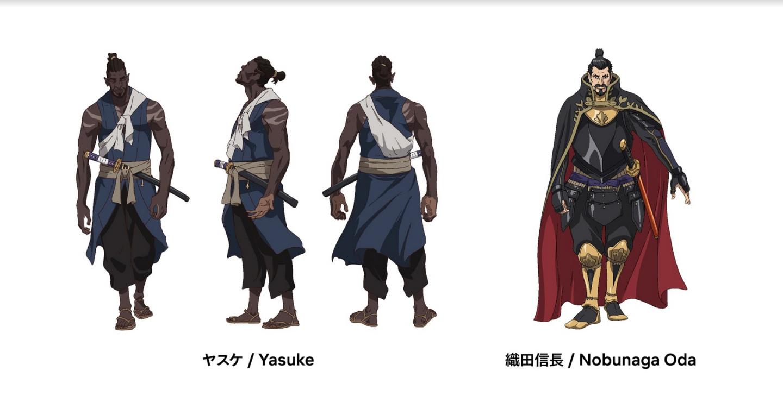 网飞新动画「弥助」人物计划图 岛国日本独一黑人军人