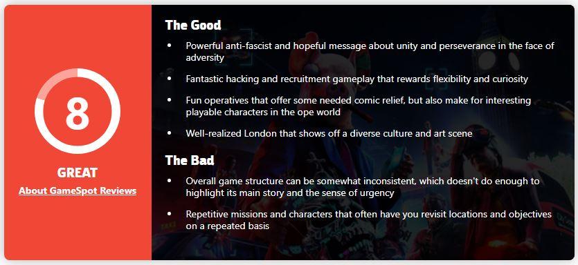 《看门狗:军团》媒体评分解禁 IGN给出8分好评