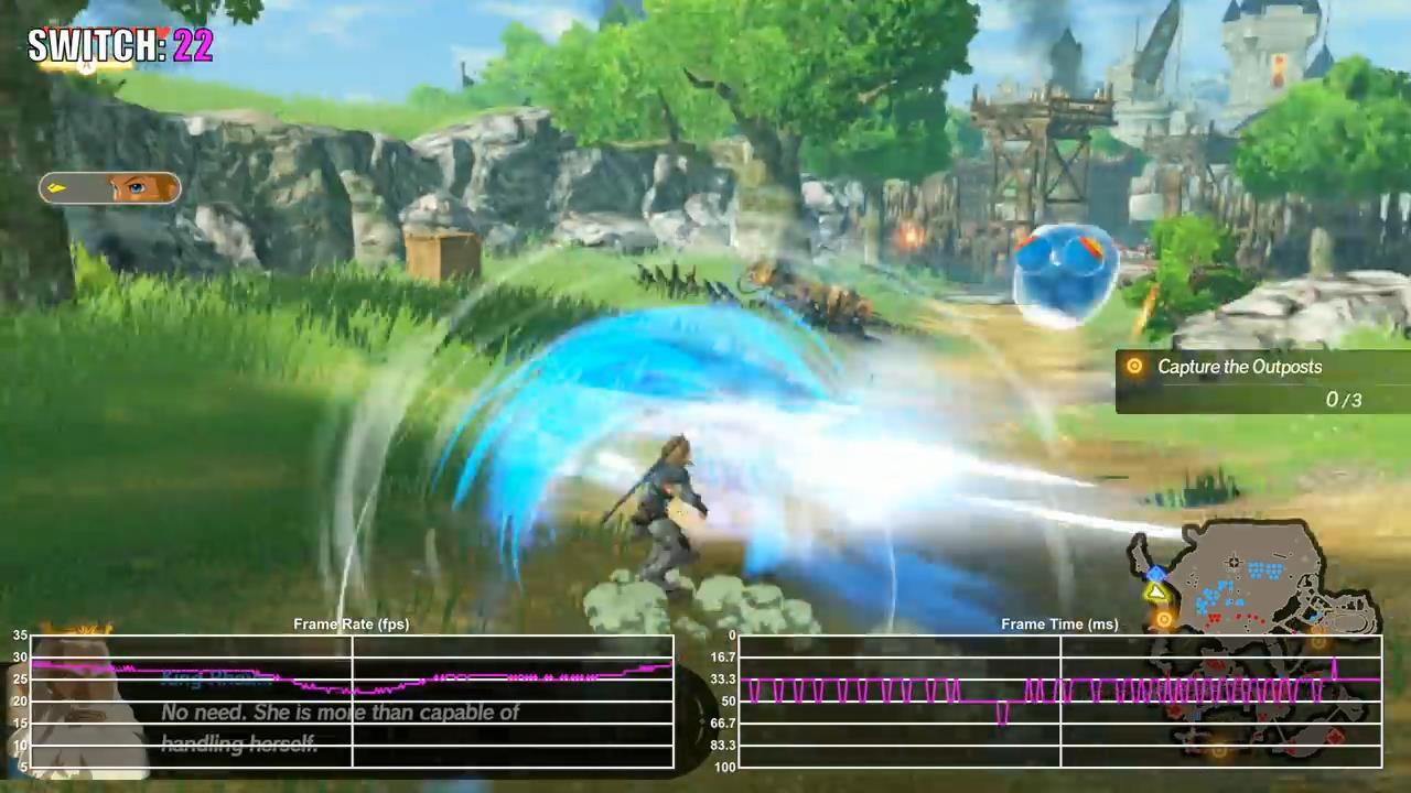 《塞尔达无双:灾厄启示录》Demo测试 画面帧数表现