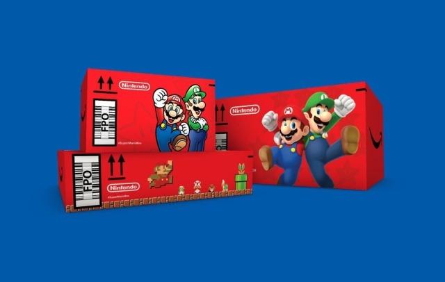 亚马逊将随机提供限量马里奥盒箱来包装商品