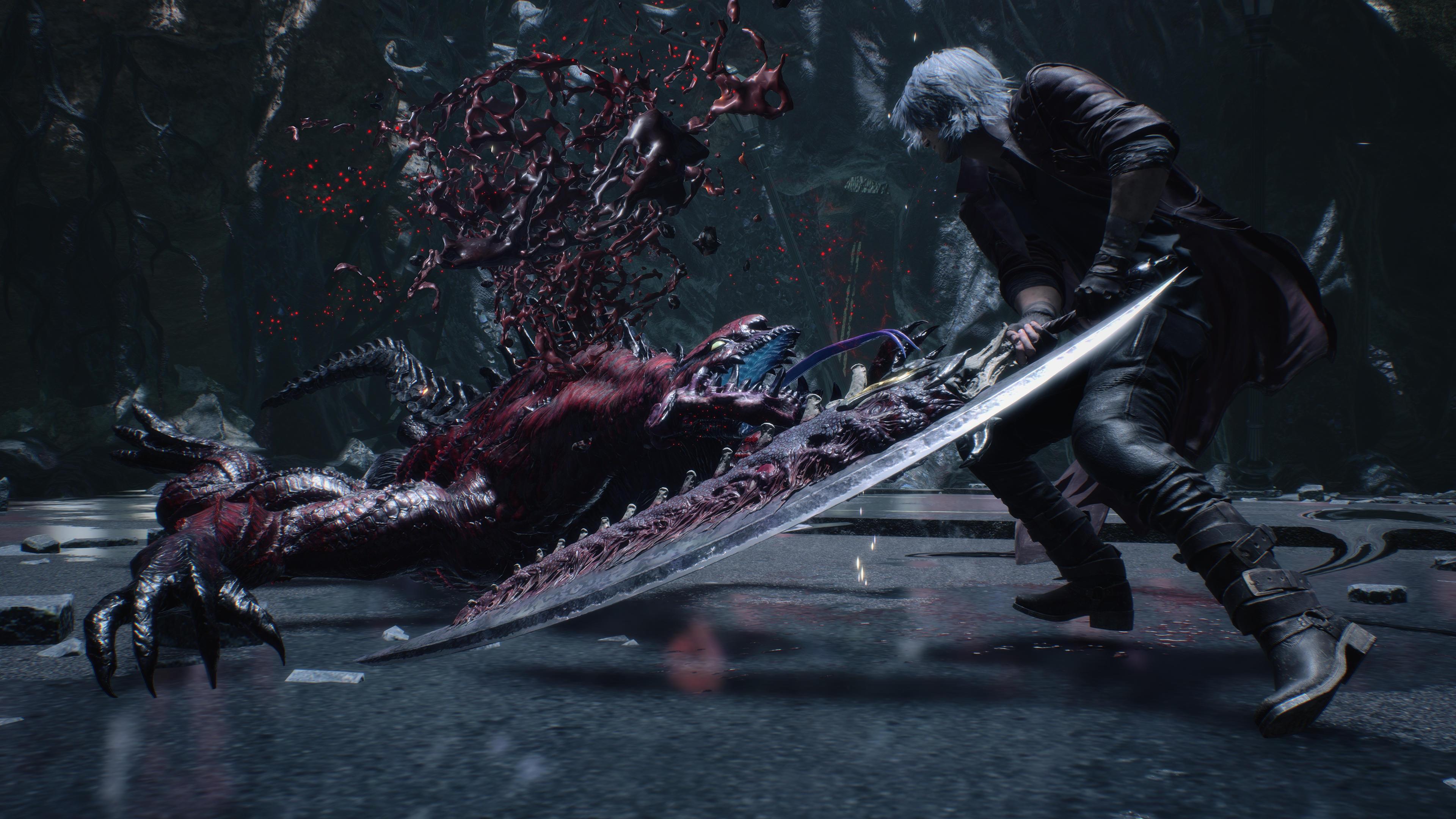 《鬼泣5:特别版》光追截图对比 传奇黑骑士模式和加速模式演示