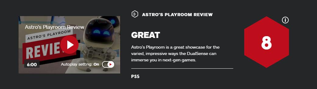 《宇航员的娱乐室》IGN 8分:令人形象深入的沉溺感