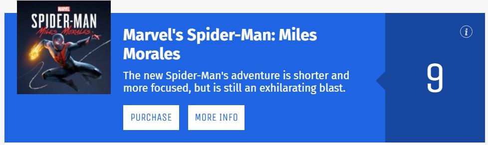 《漫威蜘蛛侠:迈尔斯·莫拉莱斯》IGN 9分:有史以来最棒的超英游戏之一