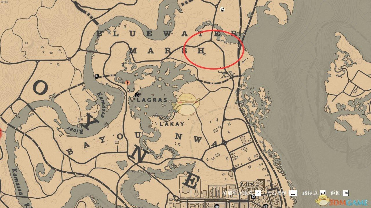 《荒野大镖客2》美国麝鼠刷新位置一览