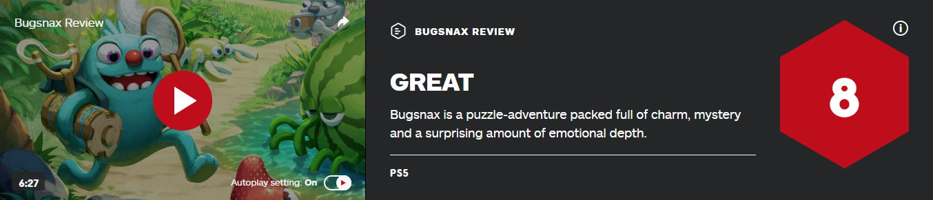《虫子快餐店》IGN 8分:充满魅力神秘感的益智冒险