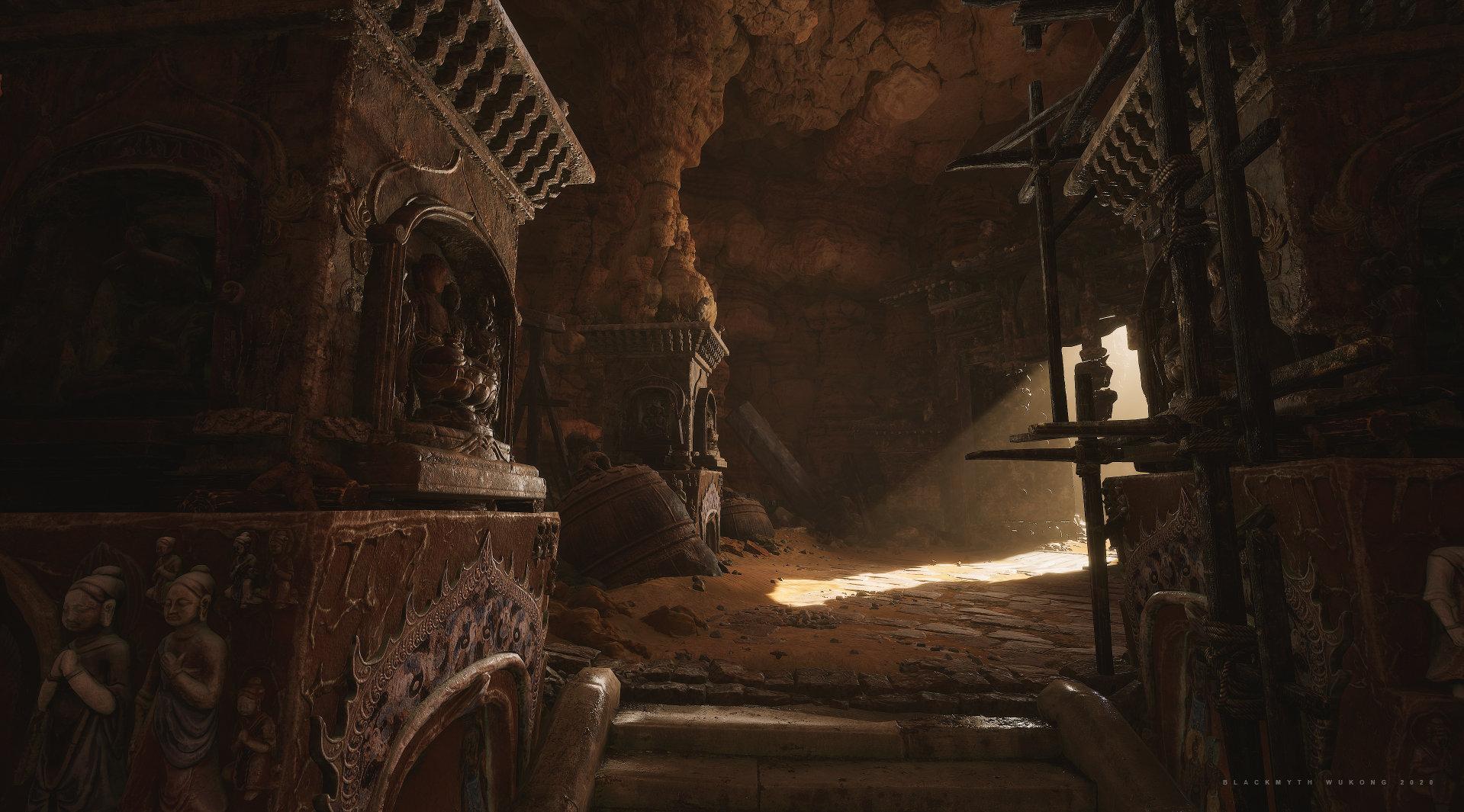 国产游戏《黑神话:悟空》新截图 光影作用超卓