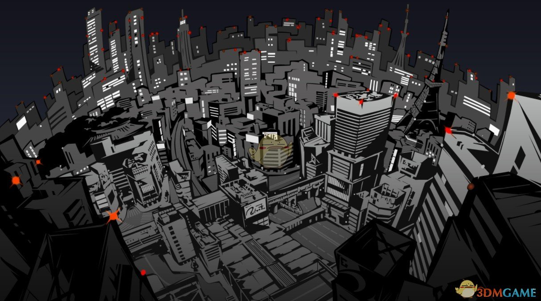 《Wallpaper Engine》女神异闻录5黑白风城市背景动态壁纸