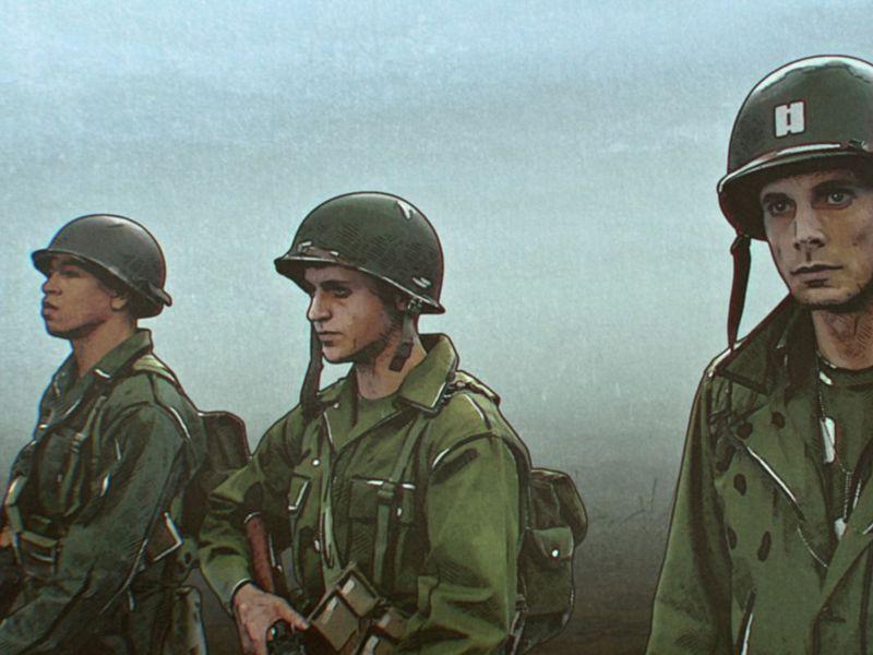 拟真动画剧《解放者:欧陆决战500天》 无主之地风美军二战主旋律