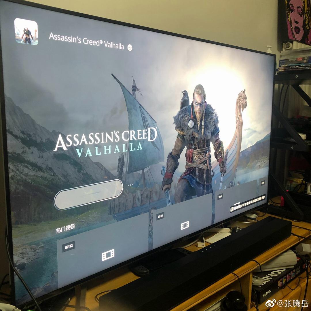 张腾岳开箱PS5主机视频 隔着屏幕都能感受到快乐