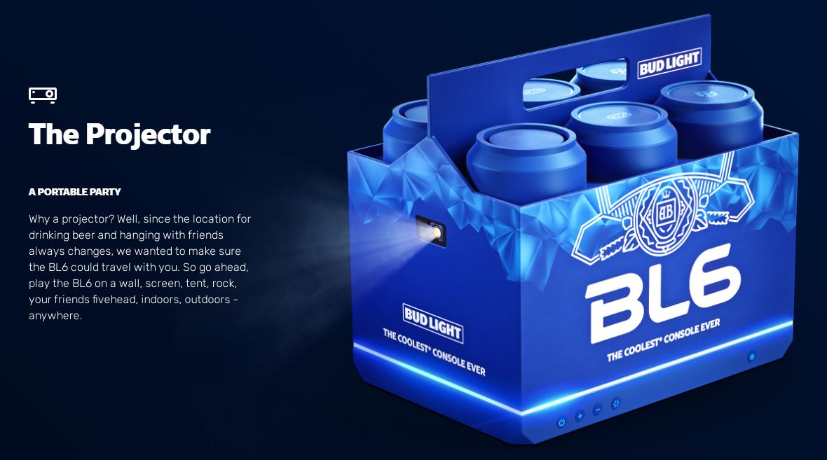 美国啤酒厂推出次世代游戏机BL6与索尼微软竞争