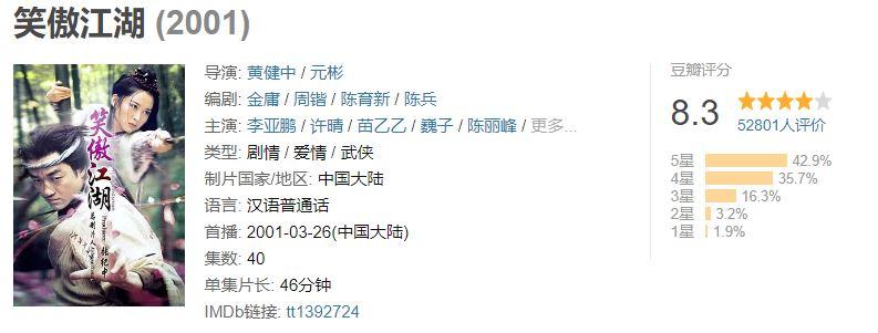 新版《鹿鼎记》2.6分比黄晓明版还低,张一山究竟怎么了?
