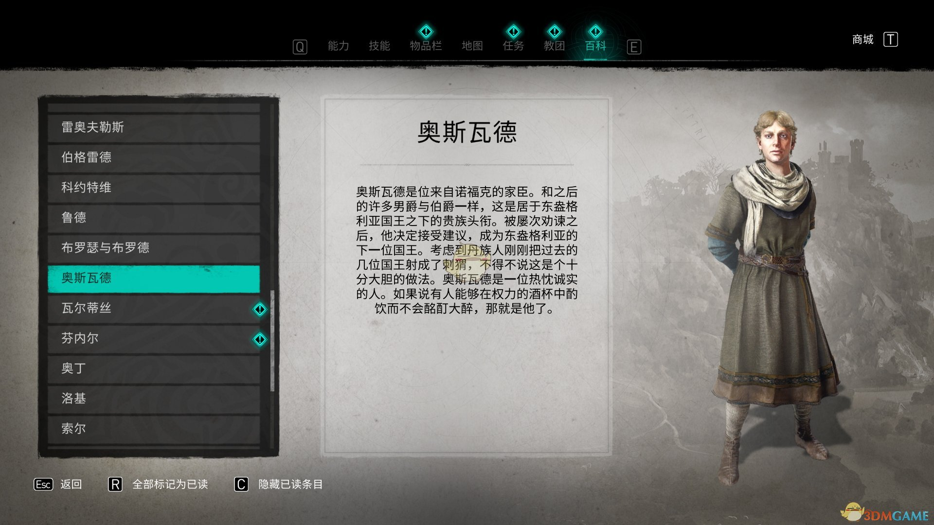 《刺客信条:英灵殿》奥斯瓦德人物背景介绍