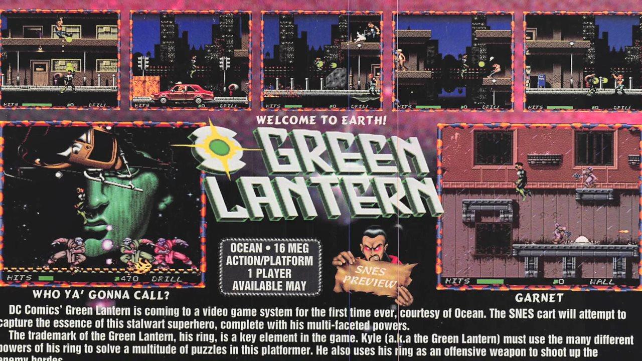 被撤销的绿灯侠游戏首度曝光 原应在超级任天堂发布