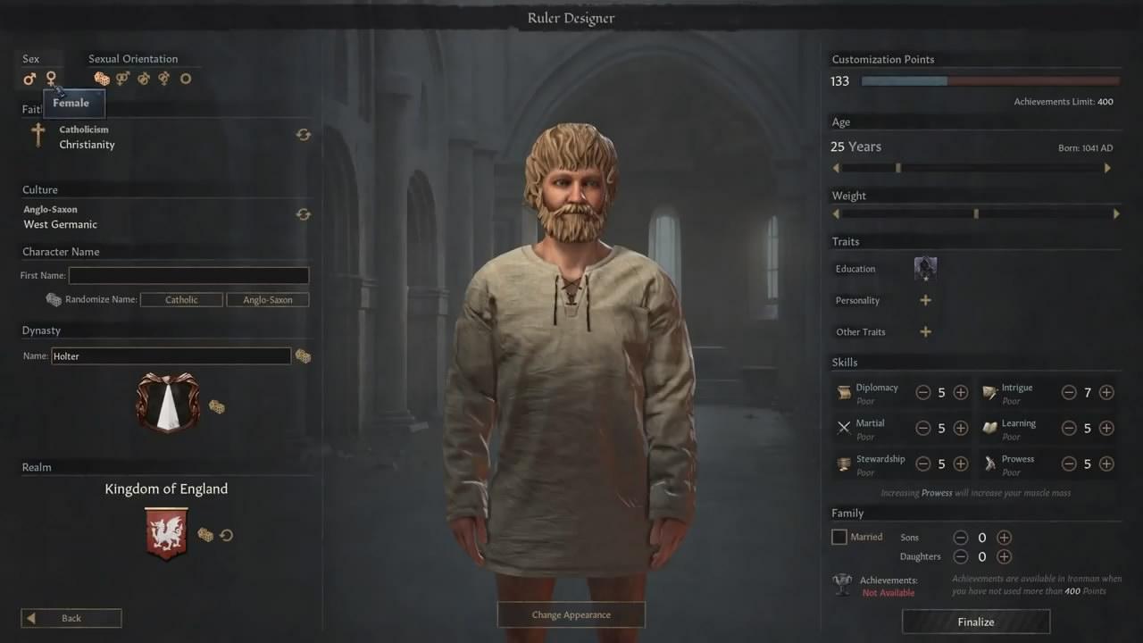 《十字军之王3》免费更新上线 人物创立器太酷了