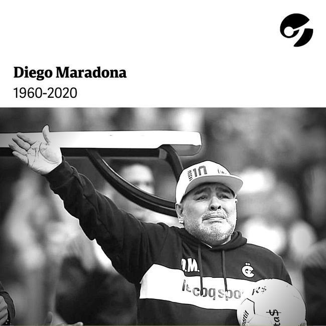 一代球王马拉多纳突发心脏骤停去世 享年60岁