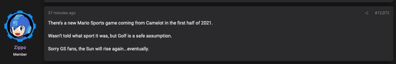 爆料:《马里奥》体育新作明年发布 《黄金太阳》回归