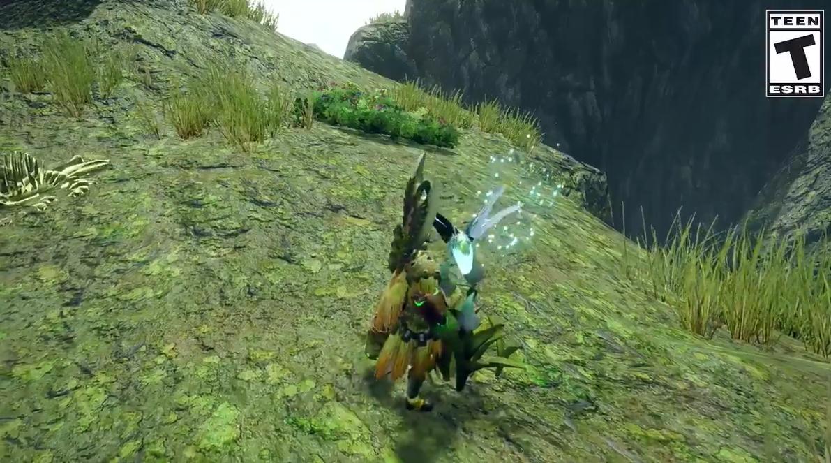 《怪物猎人:崛起》新演示:利用大翔虫飞至远处