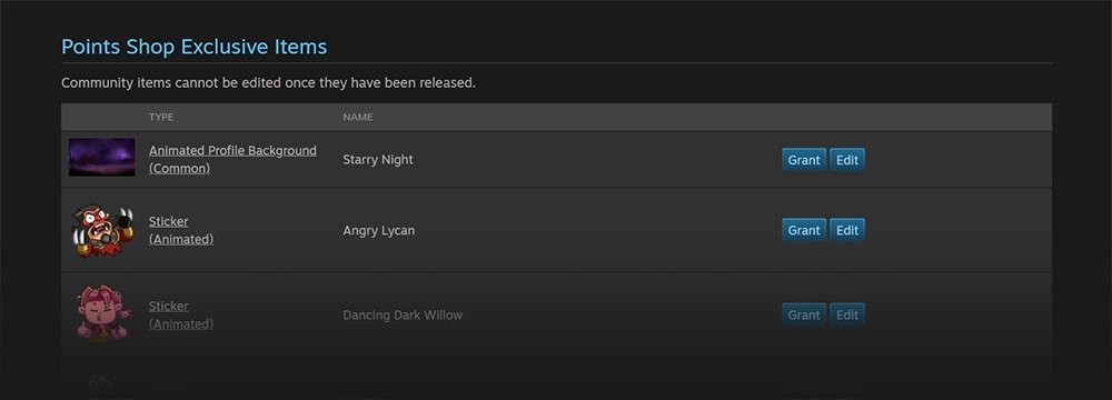 Valve公布新工具 开发者可为Steam点数商店创作物品