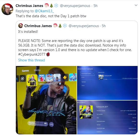 《赛博朋克2077》已偷跑 PS4版实际容量为63.91GB