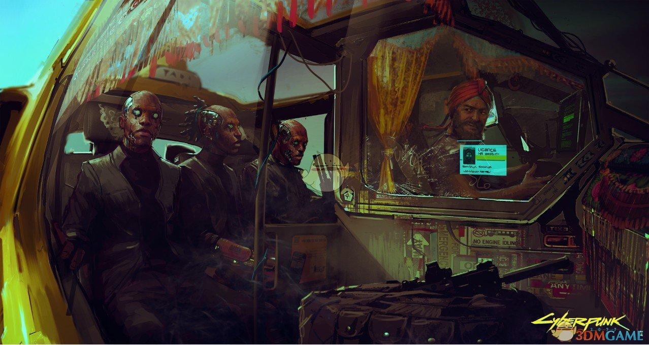 《赛博朋克2077》官方原画集