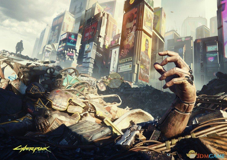 《赛博朋克2077》官方封面画整合包