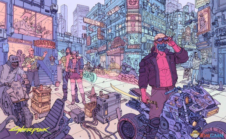 《赛博朋克2077》铁盒插画集
