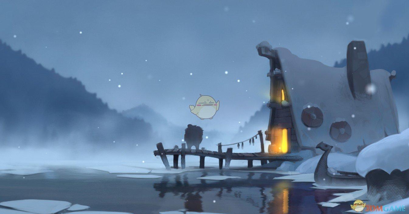 《Wallpaper Engine》冬湖码头动态壁纸