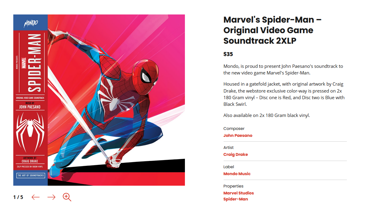 《漫威蜘蛛侠迈尔斯莫拉莱斯》原声带公开 明年上市