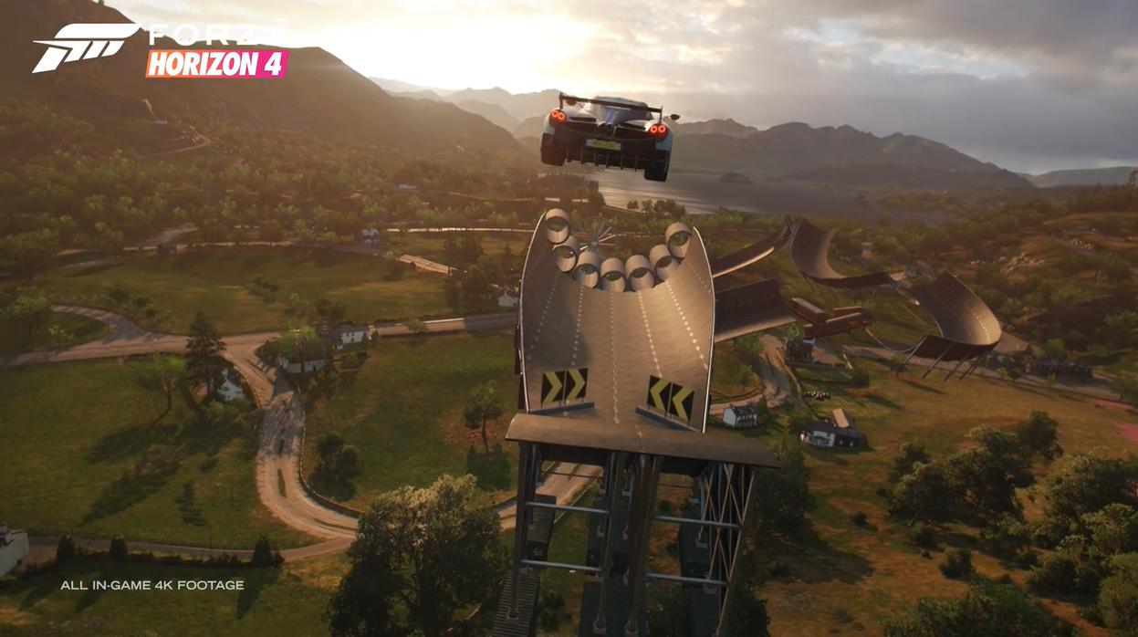 《极限竞速:地平线4》Super7预告片 自定义特技赛道
