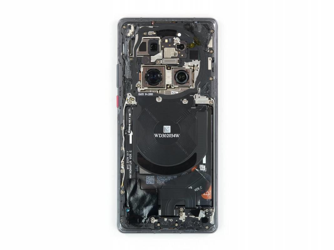 iFixit拆解华为Mate 40 Pro:比苹果iPhone 12还难修