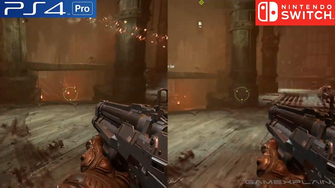 《毁灭战士:永恒》PS4和Switch版画面效果对比