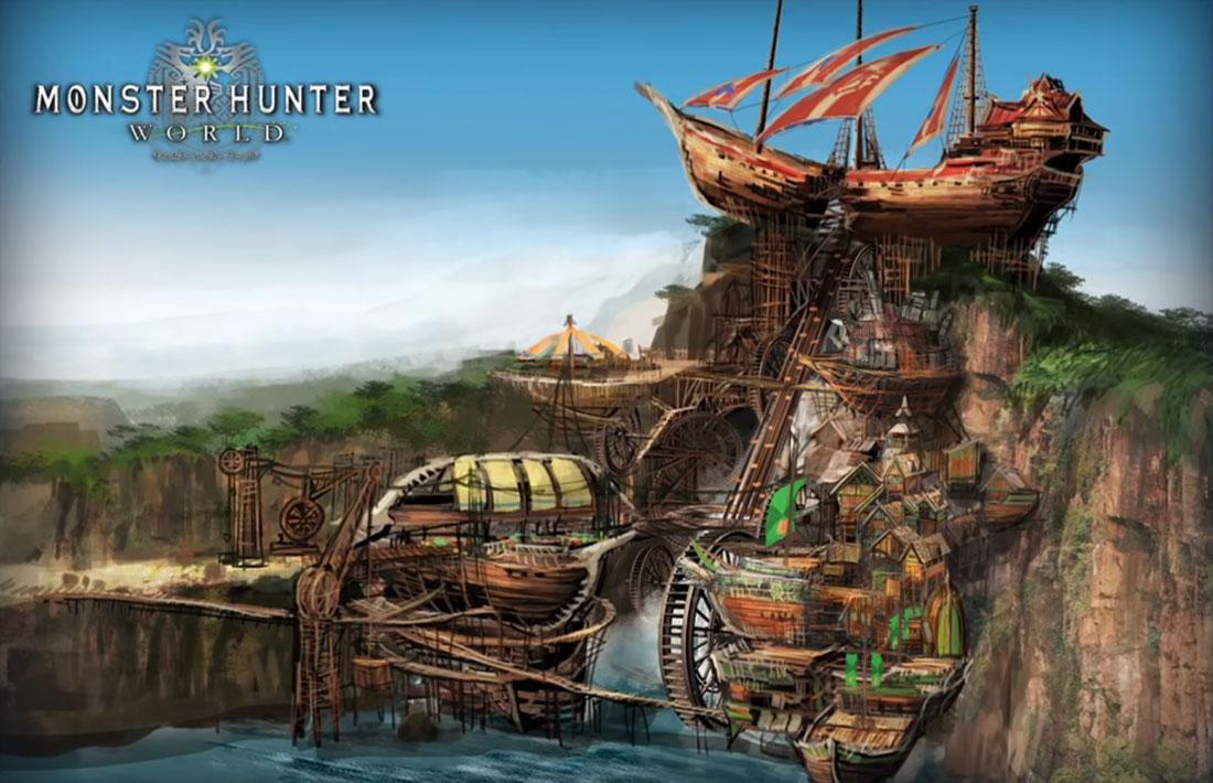 《怪物猎人:世界》冰原城镇背景乐替换MOD