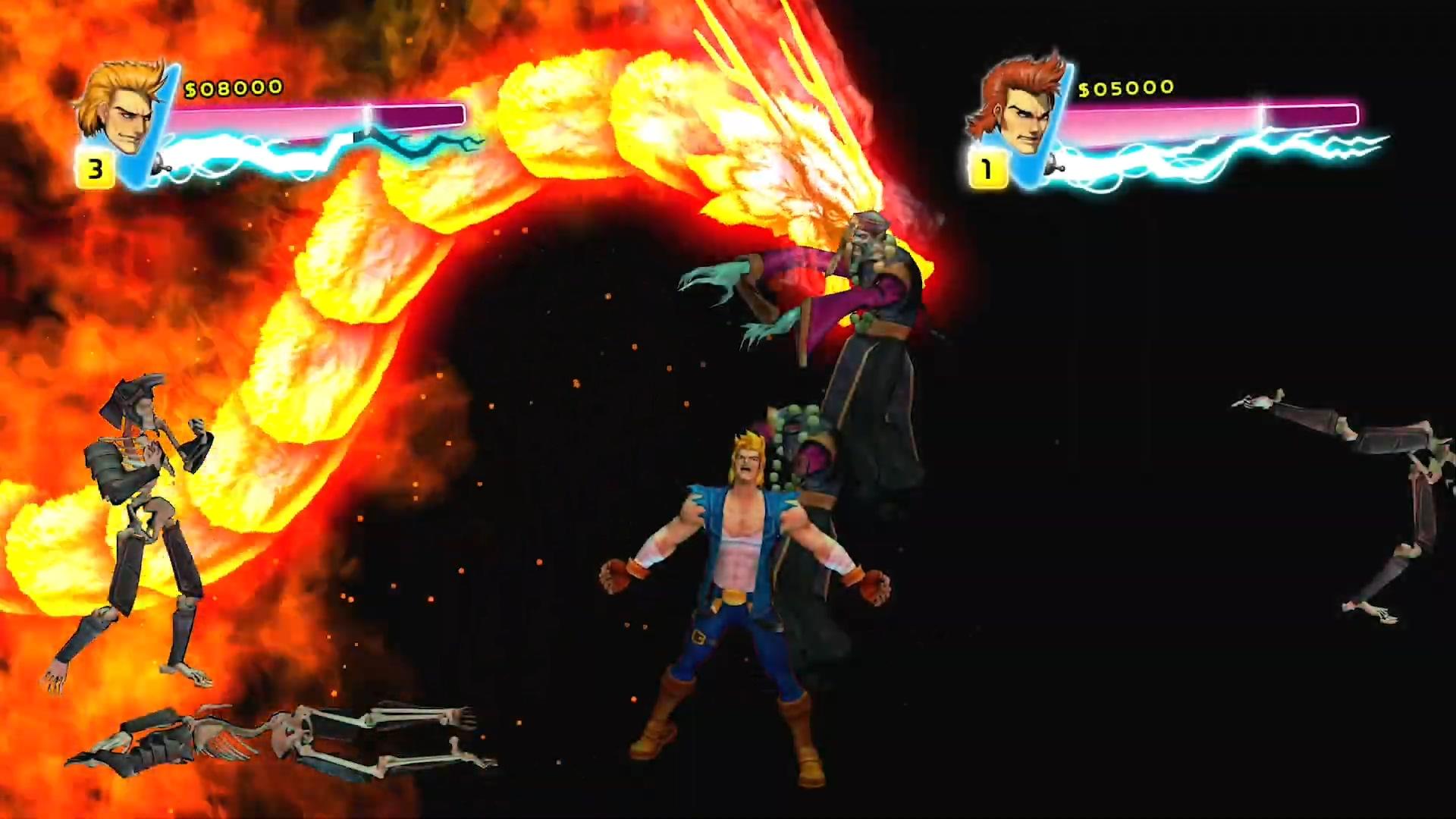 双人闯关重温!《双截龙:彩虹》将于12月21日登陆Switch