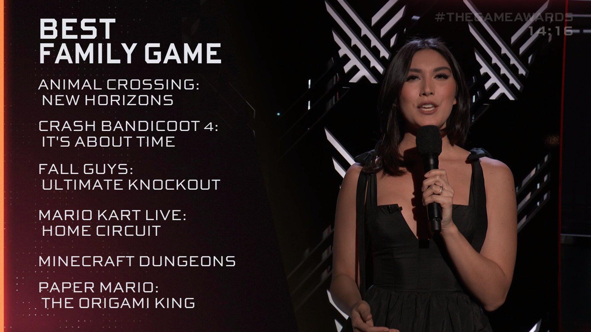 TGA 2020:《动物森友会》获最佳家庭游戏