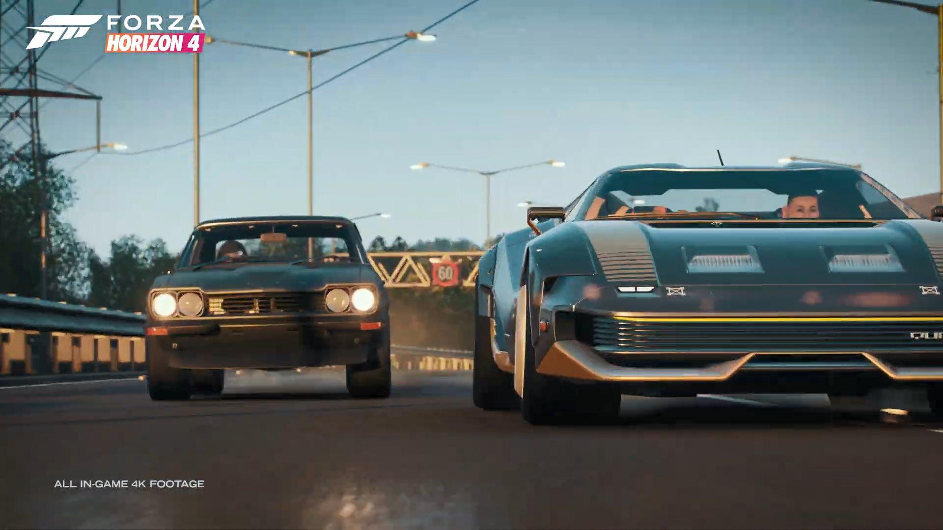 《极限竞速:地平线4》联动《赛博朋克2077》