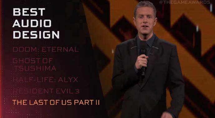 TGA 2020:最佳音效设计游戏《最后的生还者2》