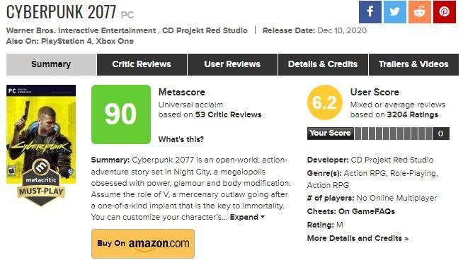 无论游戏评价如何 《2077》开发人员都将获得全额奖金