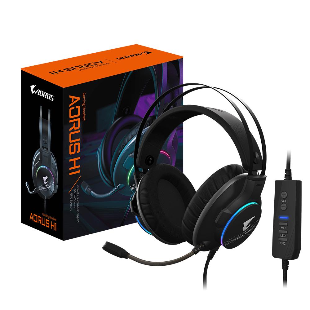 技嘉将推出AORUS H1游戏耳机 主打7.1环绕与降噪技术