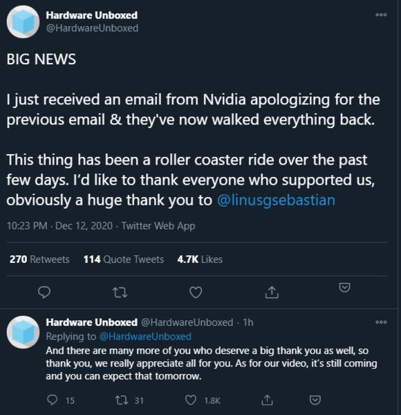知名Up主说光追坏话被N厂拉黑 网友抗议后获致歉