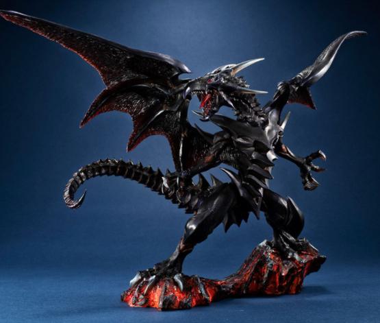 《游戏王》主题新雕像公开 城之内宿命之真红眼黑龙霸气