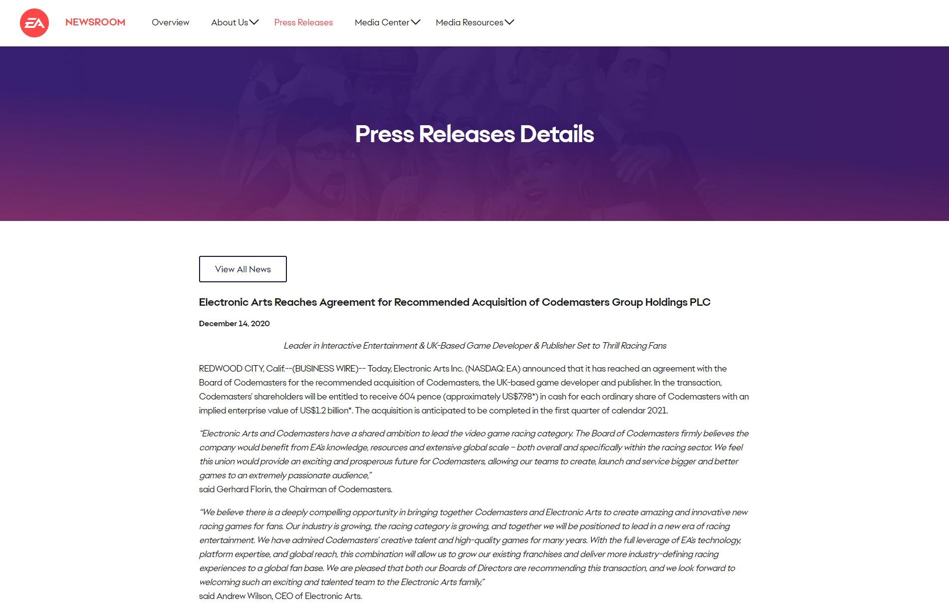 3DM速报:《赛博朋克2077》主机版开启退款,EA收购《尘埃》开发商