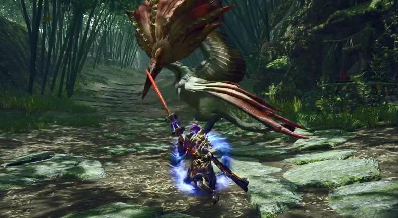 《怪物猎人:崛起》太刀、长枪动作影像公开 可施展华丽招式